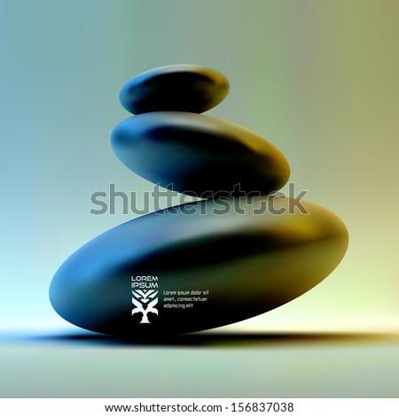 spa stones vector 3d