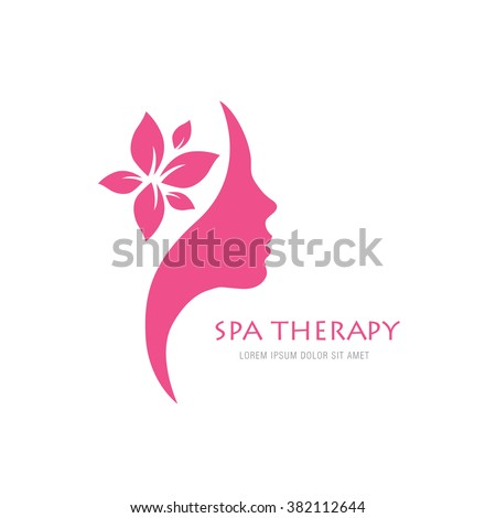 spa therapy logo concept