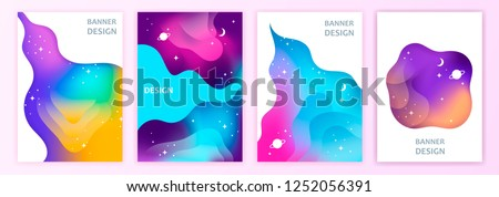 space abstract gradient banner