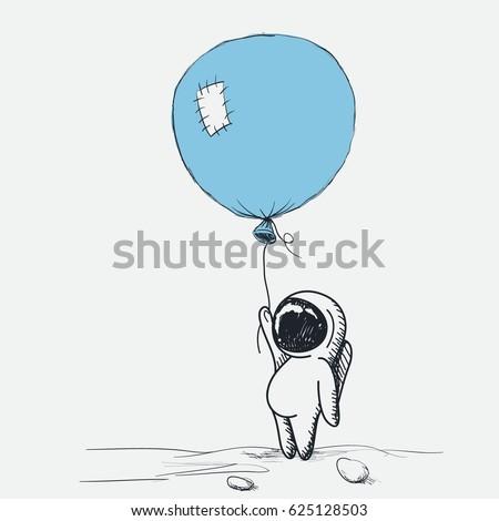 space adventure of astronaut on