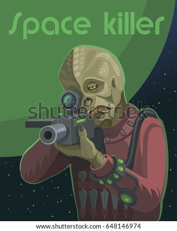 space alien murderer with a