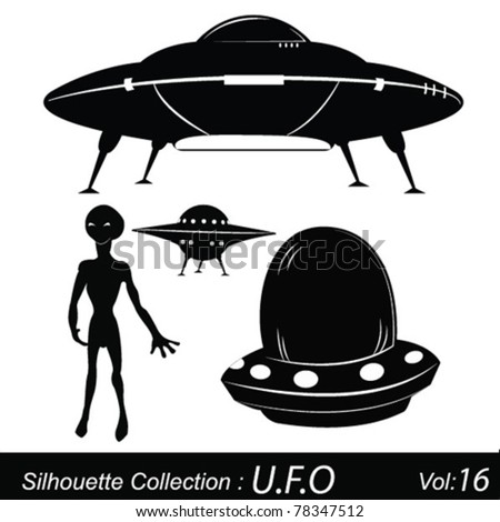 Space and aliens - stock vector