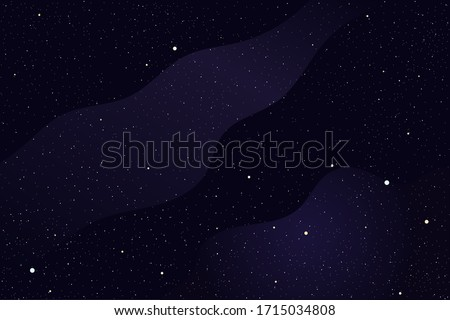 Space and deep cosmos vector background with nebula, stars and galaxy.