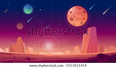 space and planet landscape