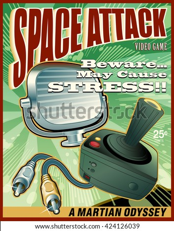 space attack video game cover