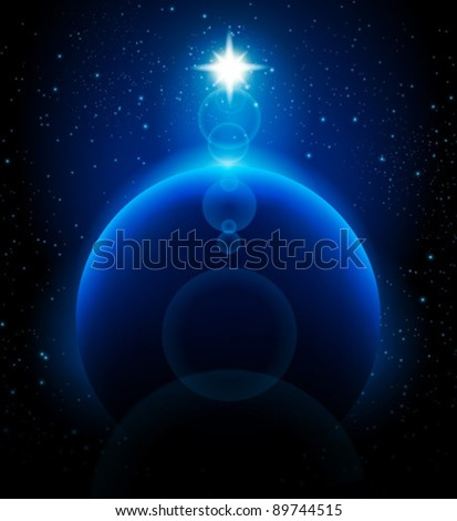 space background and blue