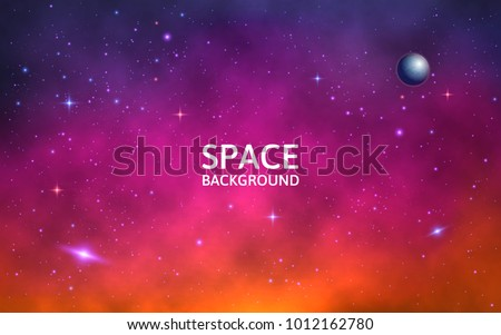 space background colorful