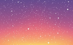 Space background. Cosmos flat design. Universe with white stars. Color galaxy with constellations. Cosmic template for flyer, brochure, poster or website. Vector illustration.