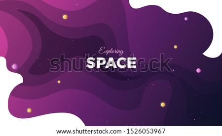 space background design cute