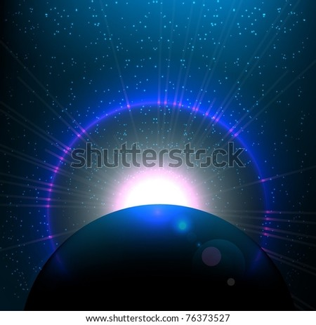 Space background. EPS10 vector illustration