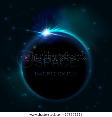 space background with blue light