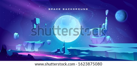 space background with landscape