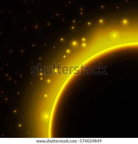 space background with light
