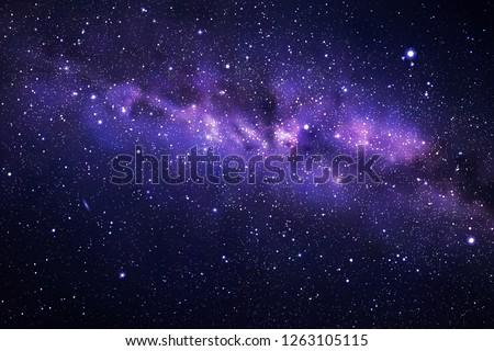 Space background with night starry sky and Milky Way. Dark blue nebula Сток-фото ©
