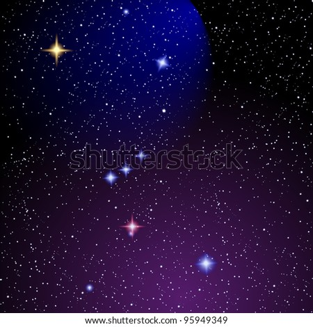 Space background with Orion nebula.Vector eps 10