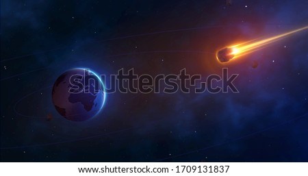 space background with planet