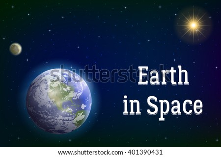 space background with realistic