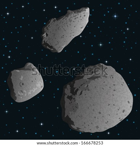 space background with stars and