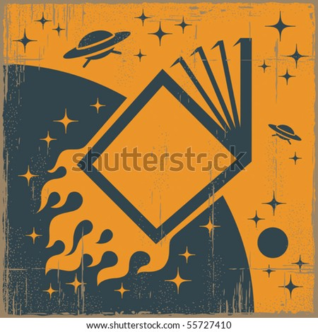 Space Book. Vector
