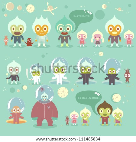 Space character alien action