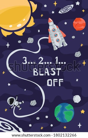 space children's poster with