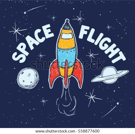 space cute space travel tee