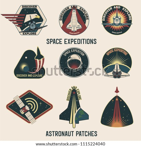 Space Expedition Astronaut Patches