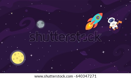 space flat vector background
