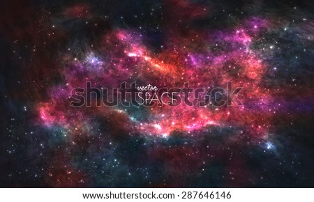 space galaxy background with