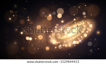 space  galaxy made of golden
