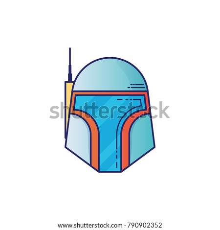 space helmet icon in thin