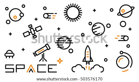 space icon vector art eps image logo sign flat design app ui web