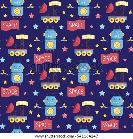 space invaders cartoon seamless