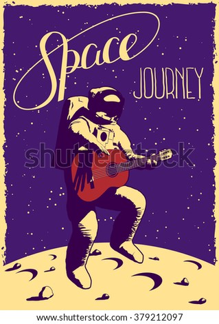 space journey illustration with