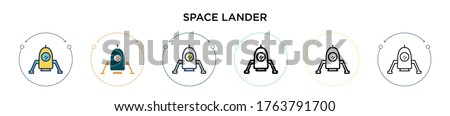 space lander icon in filled