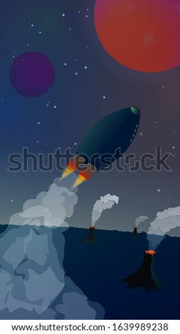 space landscape with a
