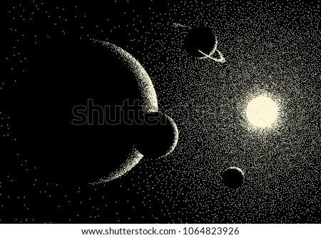 space landscape with scenic