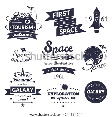 space logo and label set ...