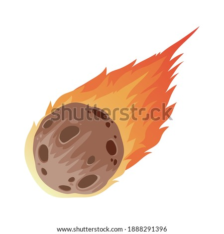 space meteorite isolated style