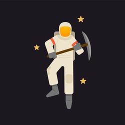 Space miner, the future profession.