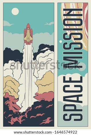 space mission propaganda poster