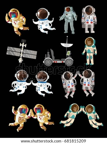 space objects and astronauts pack collection