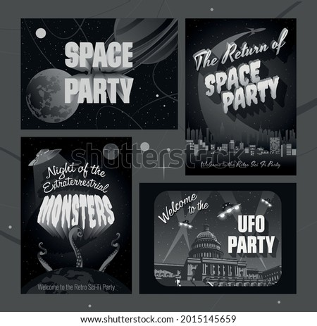 space party posters