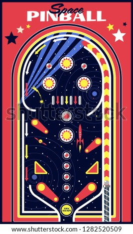 Space Pinball Vector Isolated Playfield