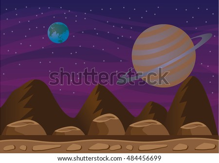 space planet background