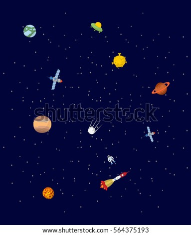 space pplanets and spaceships