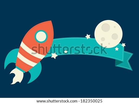 space rocket banner
