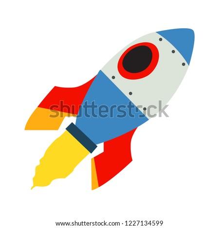 space rocket emoji vector flat