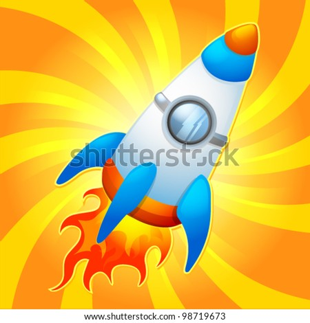 Space rocket icon like bright vector illustration