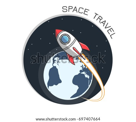 space rocket launch   and earth